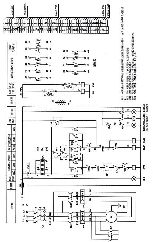雙速消防(正壓)風機控制原理圖(僅供參考)
